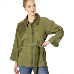 Current/Elliott Relaxed Military Jacket Army Green